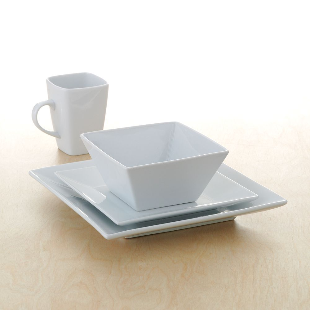 Hip To Be Square Dinnerware Foodnetwork Kohls Cream Dinnerware Food Network Recipes Dinnerware