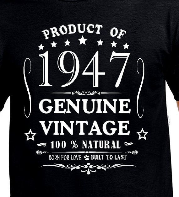 70th Birthday Gift T Shirt Funny Present Age 70