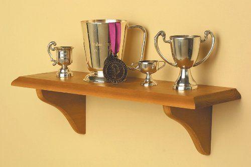 Rectangular Display Shelf w Beveled Edges & Honey Oak Finish:Amazon ...