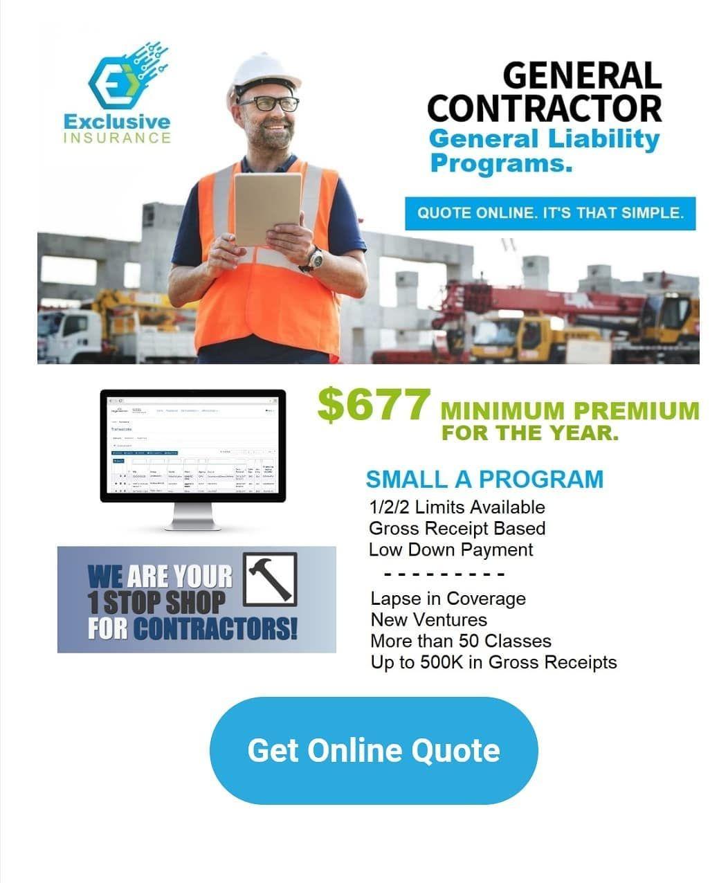 njcontractor insurancebroker General liability, Car