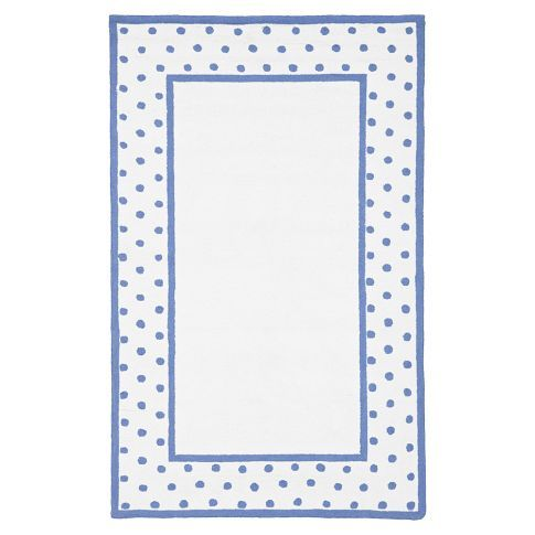 Classic Dot Border Rug - Periwinkle | PBteen