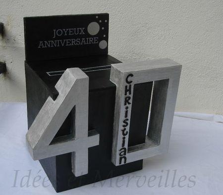 urne noire argent 40 ans anniversaire pinterest urne argent et noir. Black Bedroom Furniture Sets. Home Design Ideas