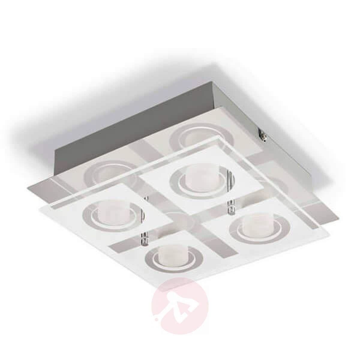 Czteropunktowa Lampa Sufitowa Led Polygon Lampy Sufitowe W