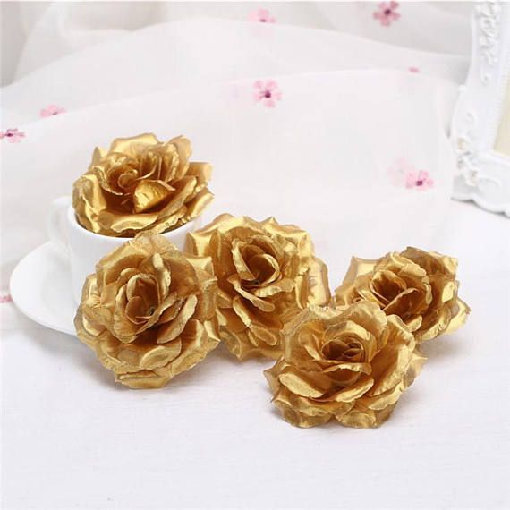 Wholesale Silk Flowers Artificial Rose Heads 3 Bulk Flowers 100 For
