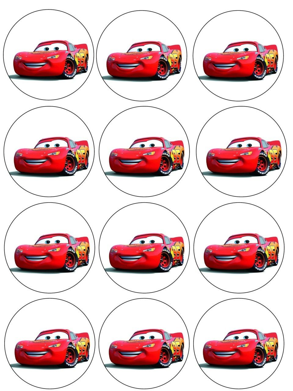Afbeeldingsresultaat Voor Cars Cupcake Toppers Printables