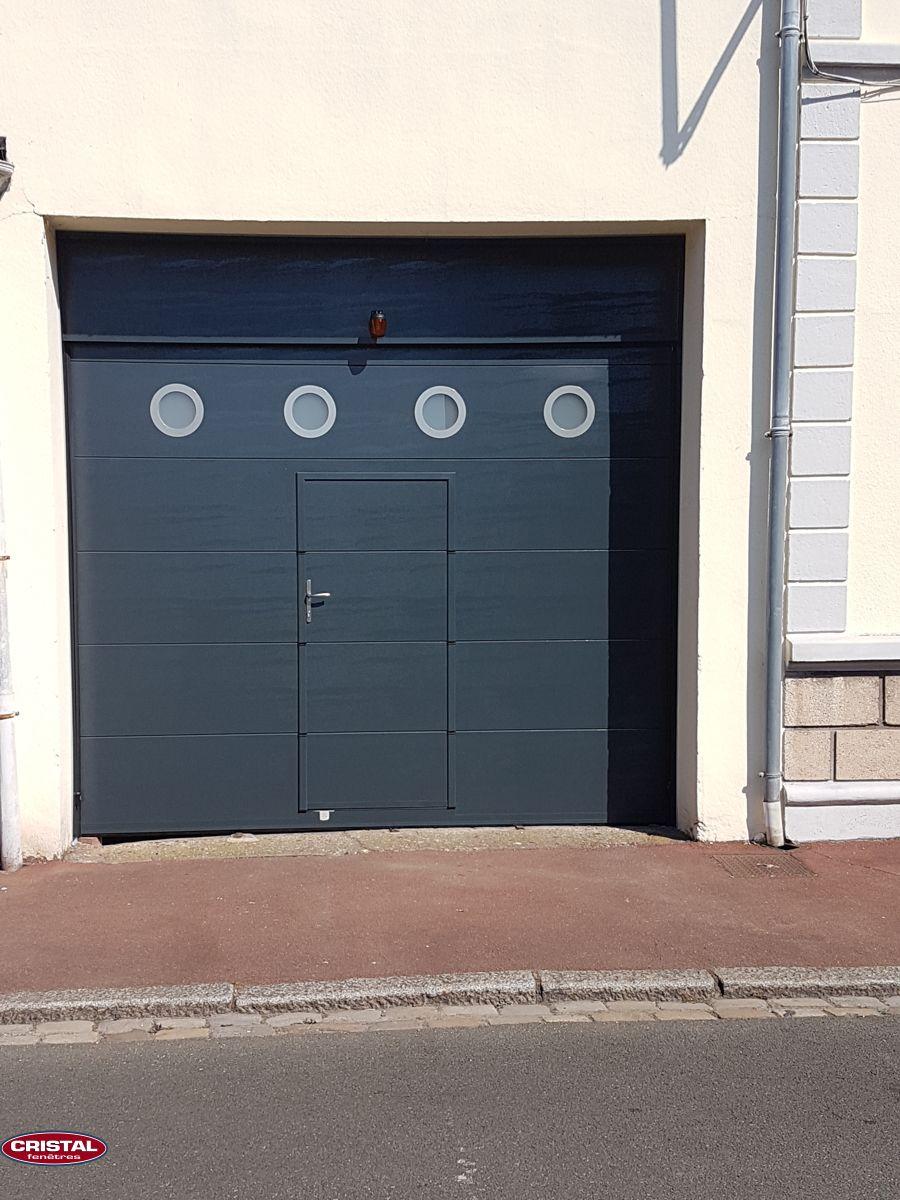 Hublots Inox Gris Anthracite Porte Garage Fenetre Pvc Porte Sectionnelle