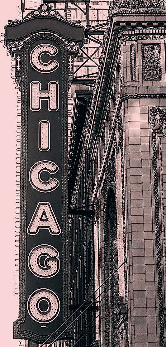 Chicago Photography, Chicago Theater, Black and White Photography, Large Art Pri...