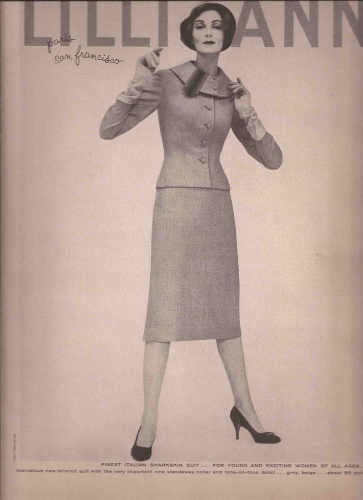 50's Vintage Lilli Ann Fashion Advertisement  - Carmen Dell'Orifece  1958 #LilliAnnFashionsCarmenDellOrifece