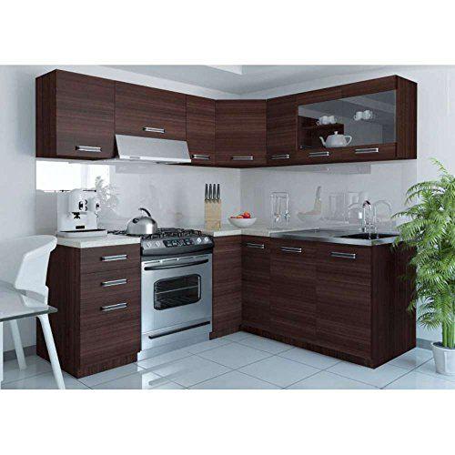 JUSThome Lidia L L-Küche Küchenzeile Küchenblock 190x170u2026 Amazon - küche mit küchenblock