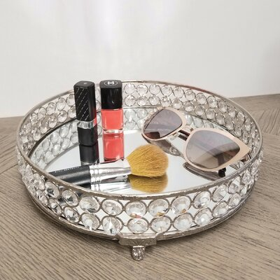Best House Of Hampton Scarlette Yasmine Bling Round Vanity Tray 400 x 300
