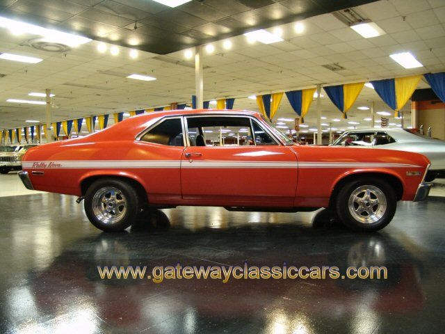 1972 Chevy Nova Hatchback V8 Orange Black Chevy My Very