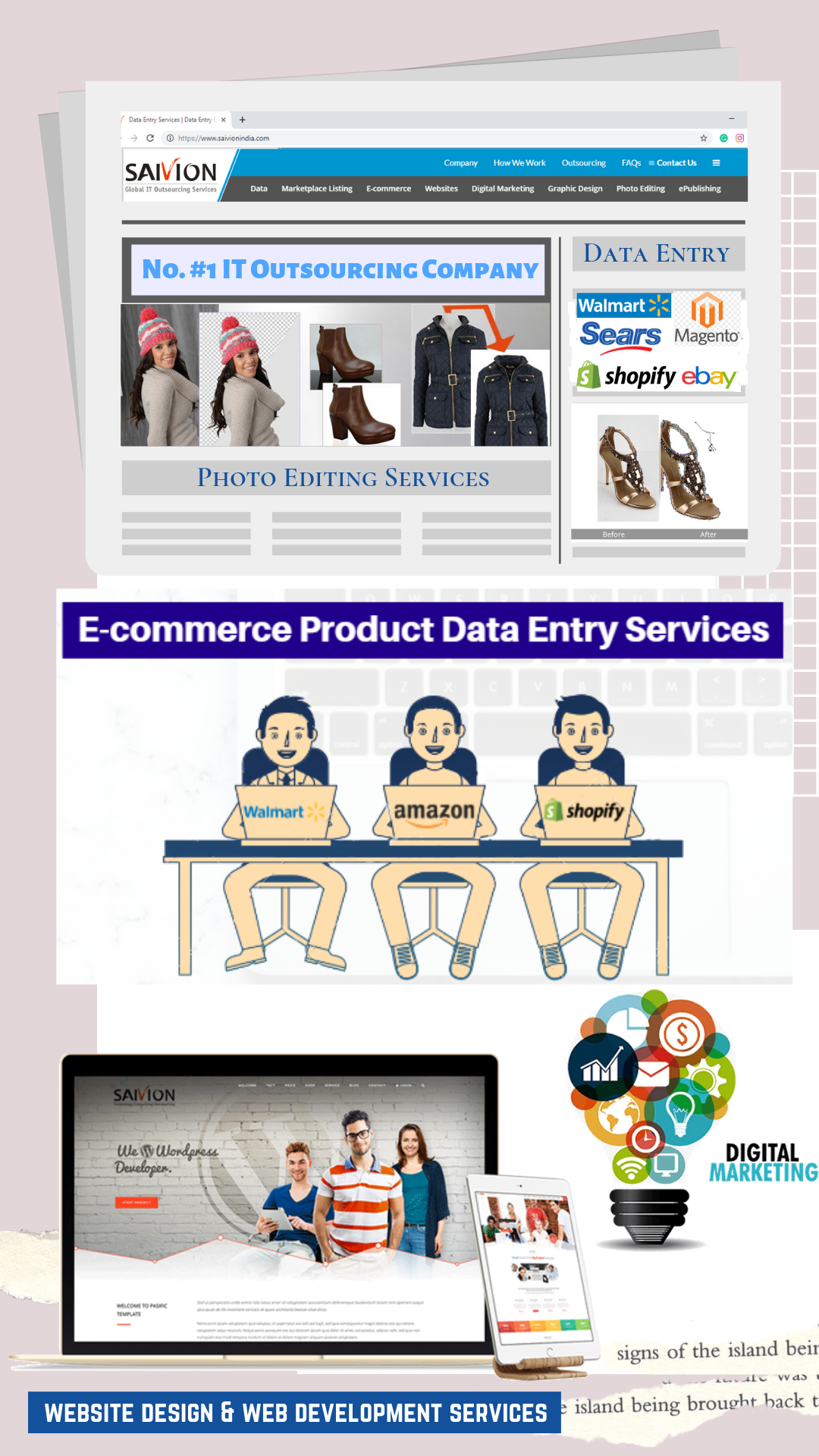 Outsource Data Entry Image Editing Digital Marketing