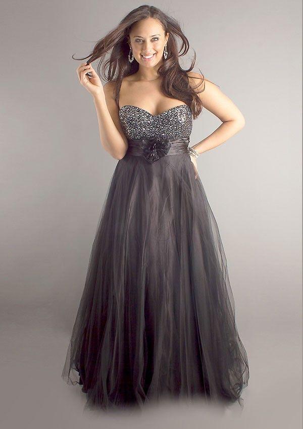 Tulle Plus Size Formal Dresses