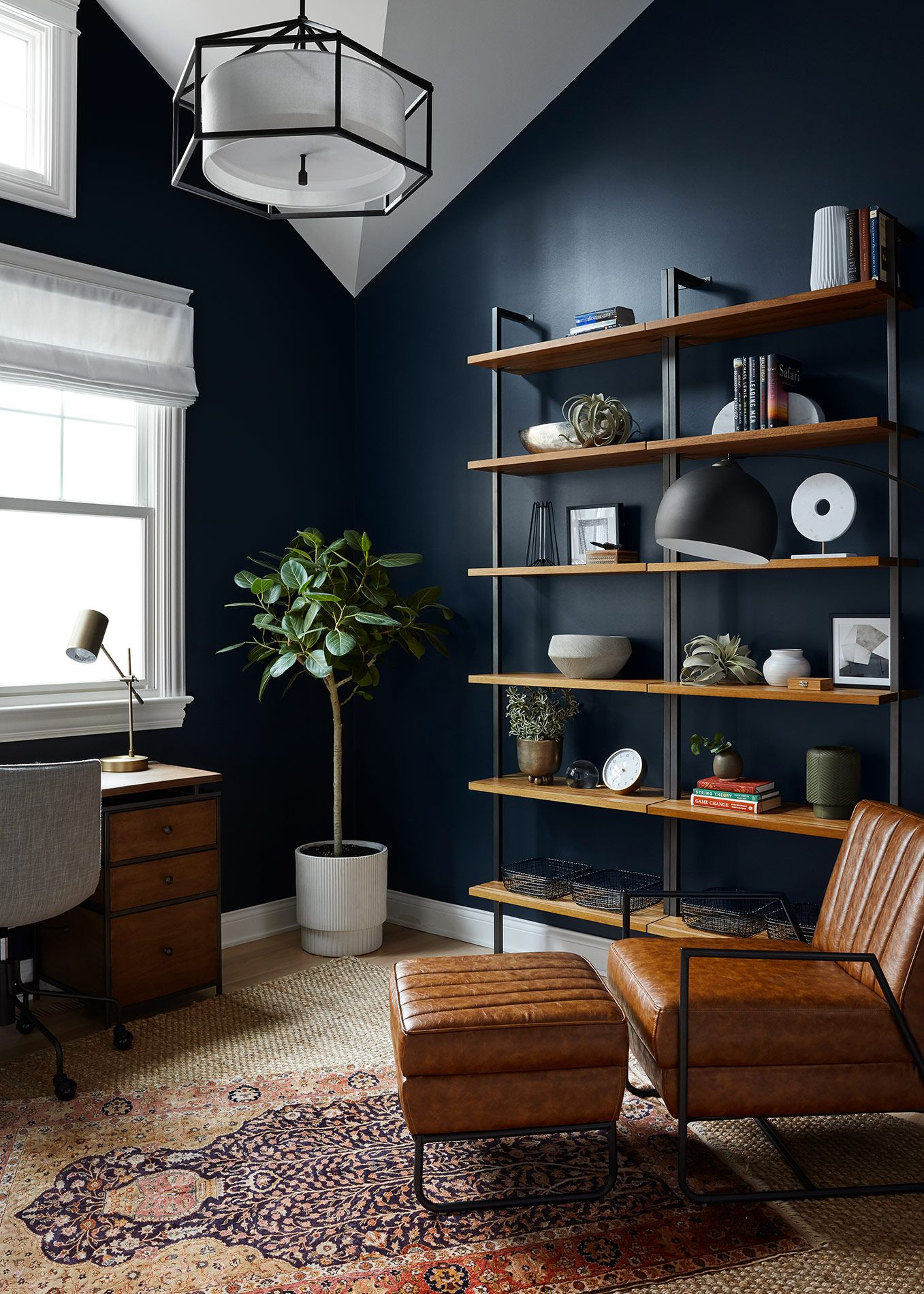 Modern Moody Home Office