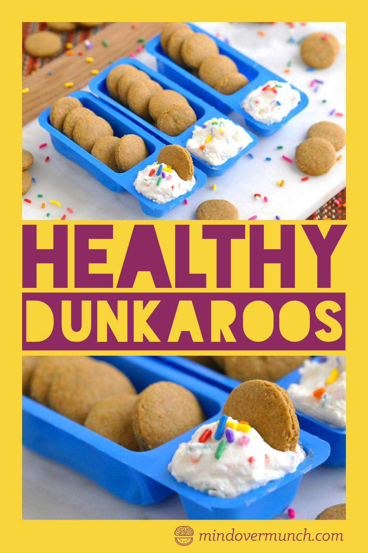 Healthy Homemade Dunkaroos Dip & Cookies | Mind Over Munch