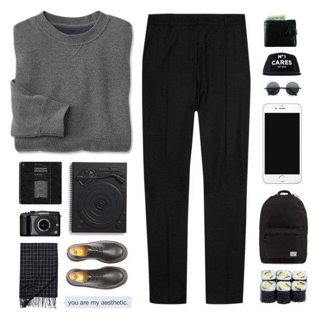 """""""LIKE TO JOIN MY TAGLIST"""" by graham-was-here ❤ liked on Polyvore featuring J.W. Anderson, Dr. Martens, Herschel Supply Co., MollaSpace, Olympus, Monki and TheLife"""
