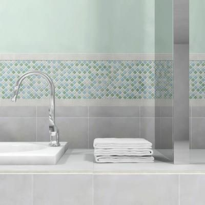 Merola Tile Spectrum Square Fresh 11 3 4 In X 11 3 4 In X 4 Mm Glass Mosaic Tile Gdxssqf Mosaic Wall Tiles Mosaic Glass Glass Mosaic Tiles