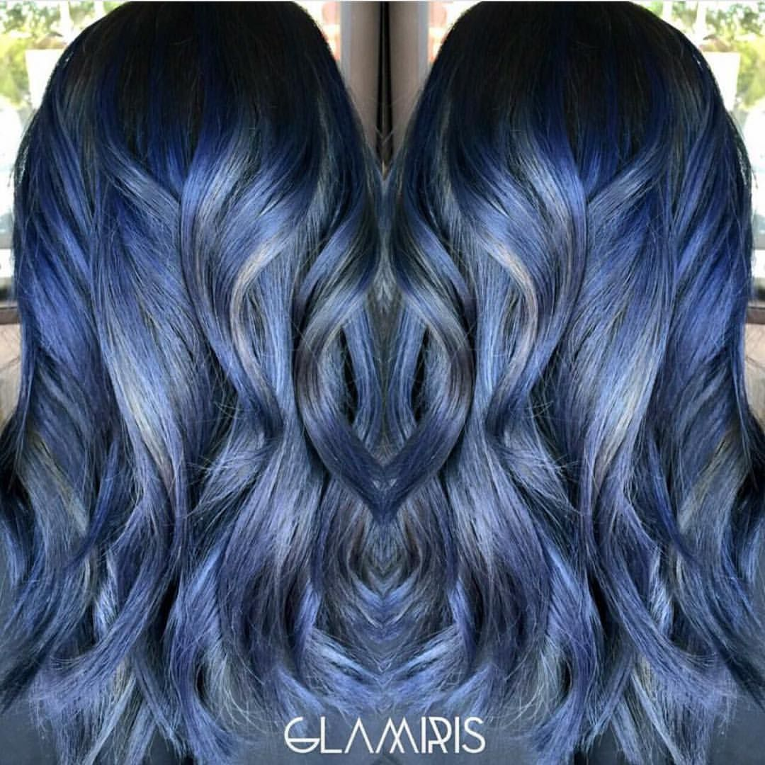 Glamorous blue dimensional color design by Glamiris Love the touches ...