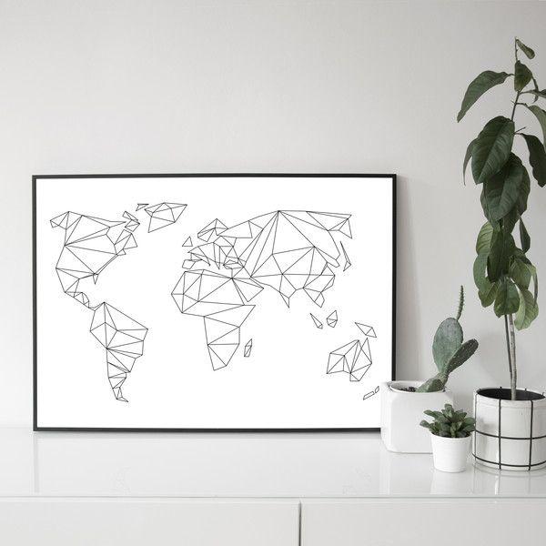 Digitaldruck - 50x70 / A1 POSTER Geometrical World  - ein Designerstück von nahili bei DaWanda