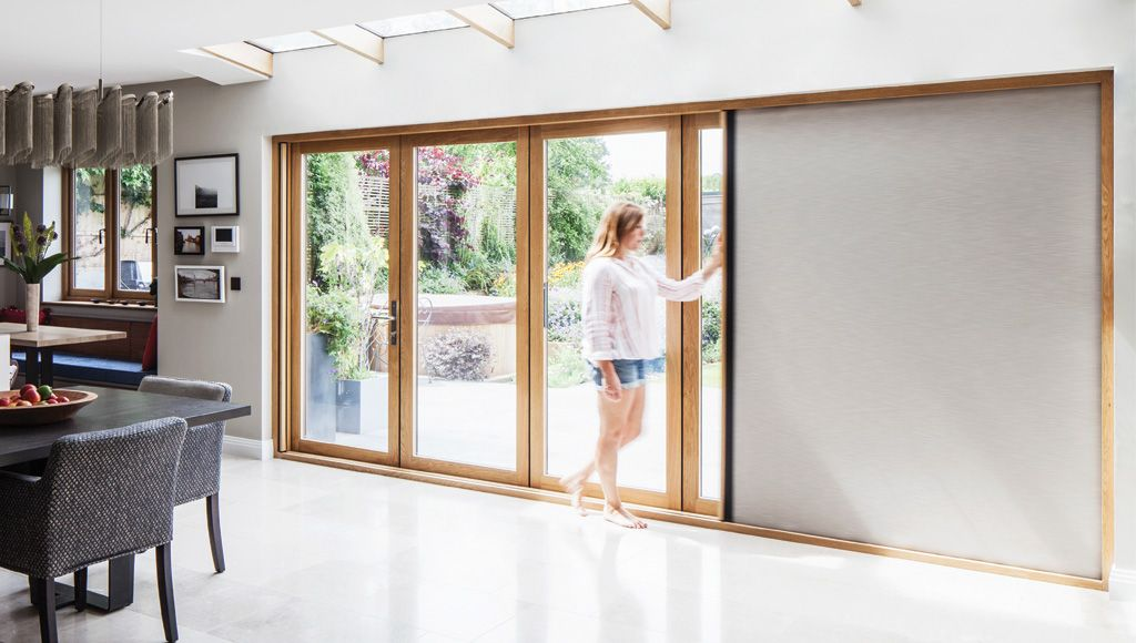 Centor Integrated Folding Door With Built In Blackout