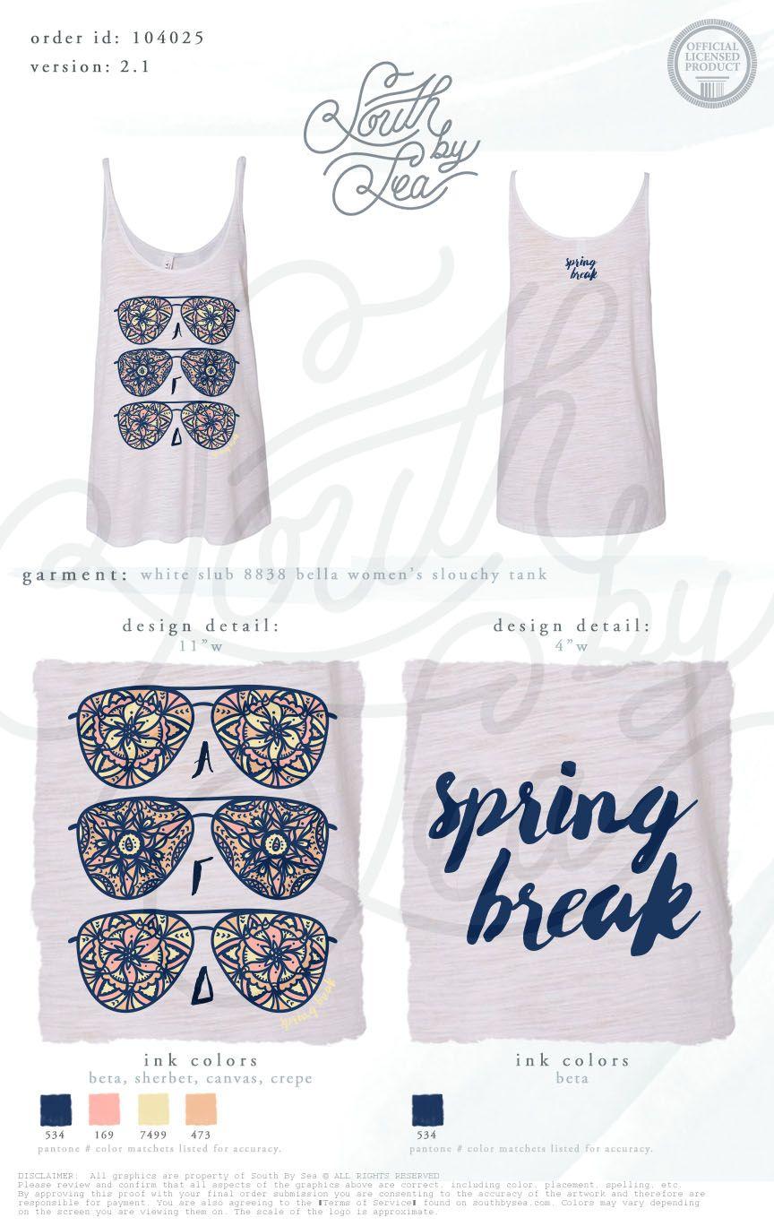 Spring Break Alpha Gamma Delta Agd Sunglasses Design South