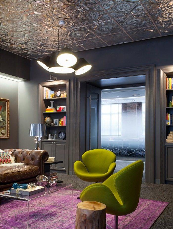 Attraktive Ideen für abgehängte Decke - wohnzimmer einrichten ideen