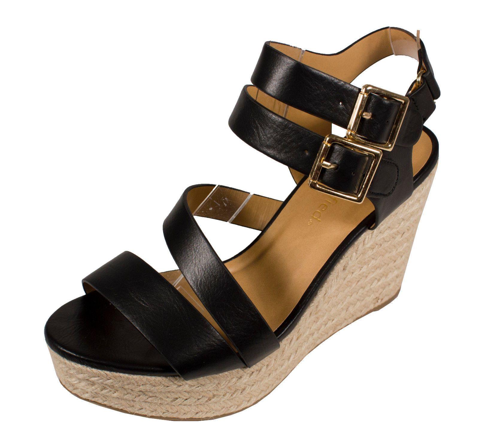 b3ebfea436b Justina City Classified Strappy Opentoe Platform Wedge Sandal Black  Leatherette