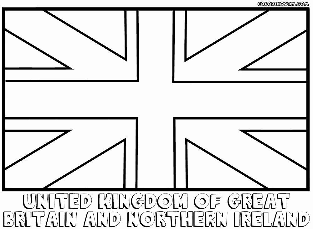 British Flag Coloring Page Fresh England Flag Coloring ...