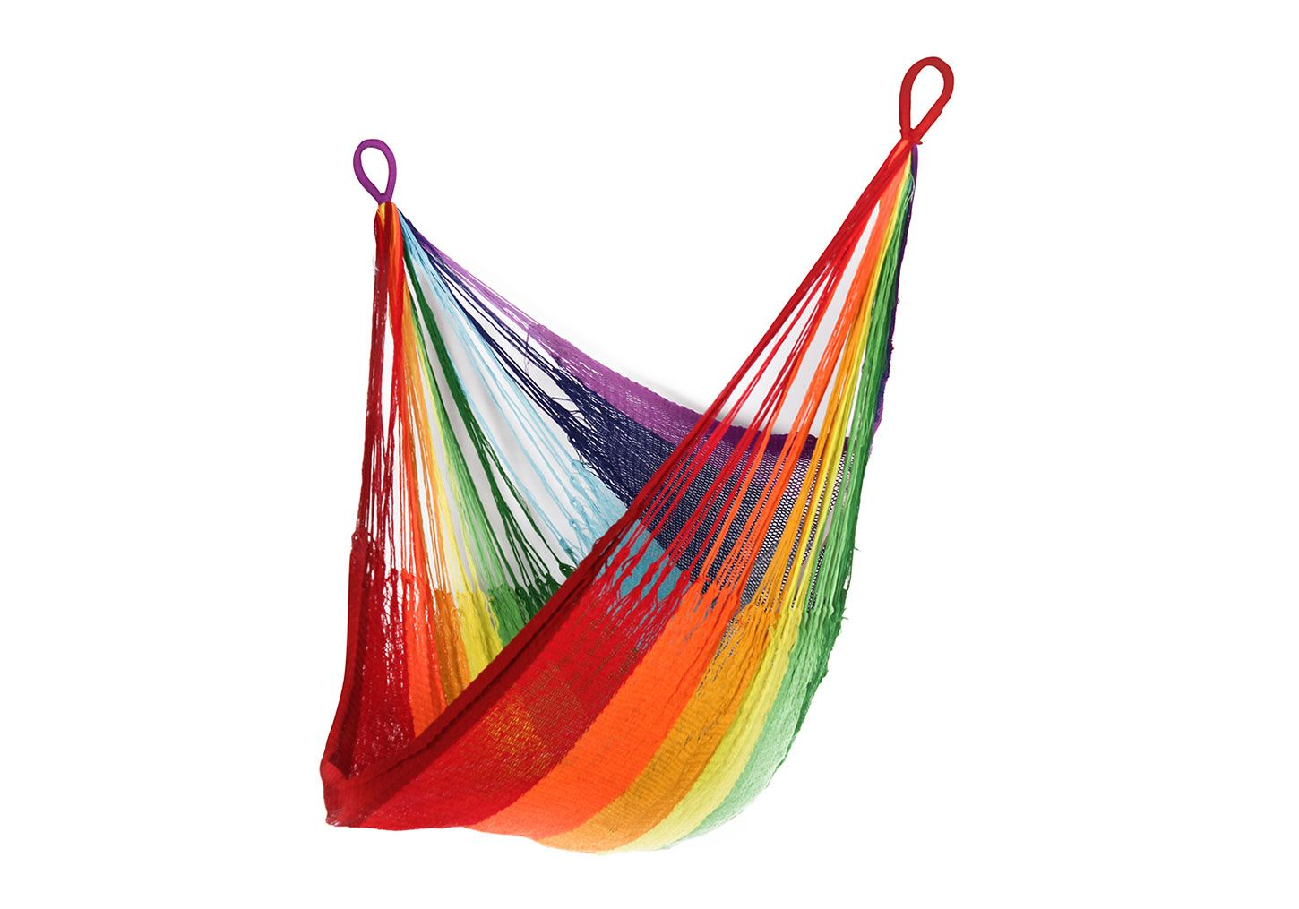 This hammock is handwoven by artisans in rural thailand and
