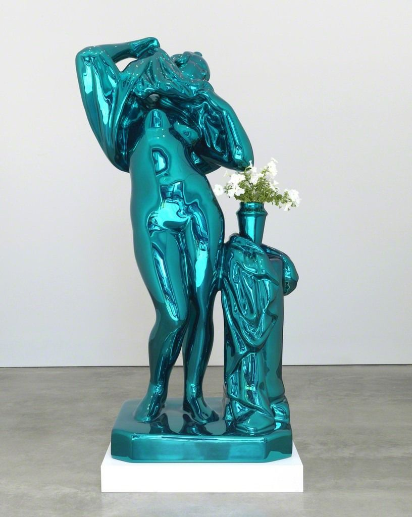 Coloring book by jeff koons - From Gagosian Jeff Koons Metallic Venus Mirror Polished Stainless Steel With Transparent Color Coating And Live Flowering Plants 100 52