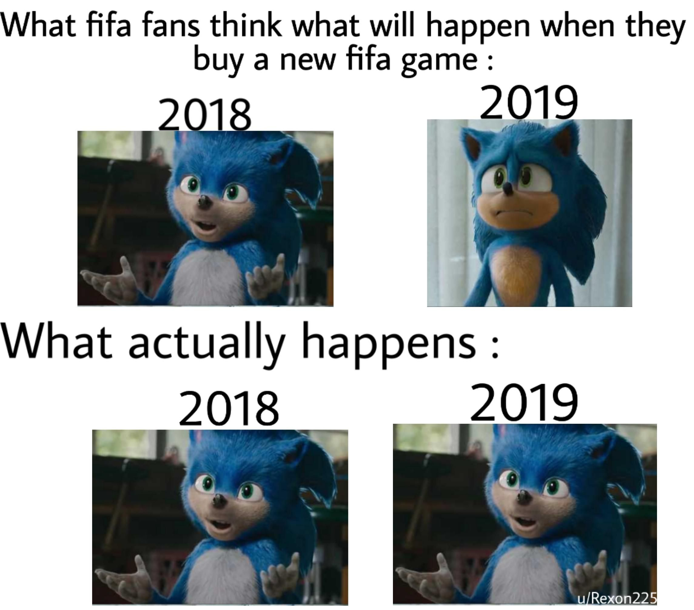 Imagine buying the same game every year Posted by u