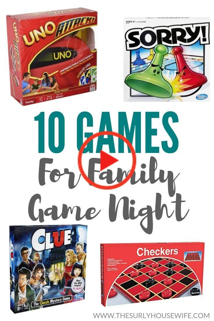 Games for Family Game Night in 2020 Family games, Family