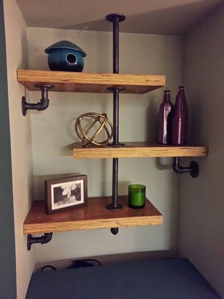 Pin Auf Pipe Brackets For Shelves