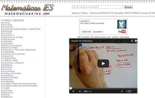 Matemáticas IES: vídeos y ejercicios para aprender matemáticas ...