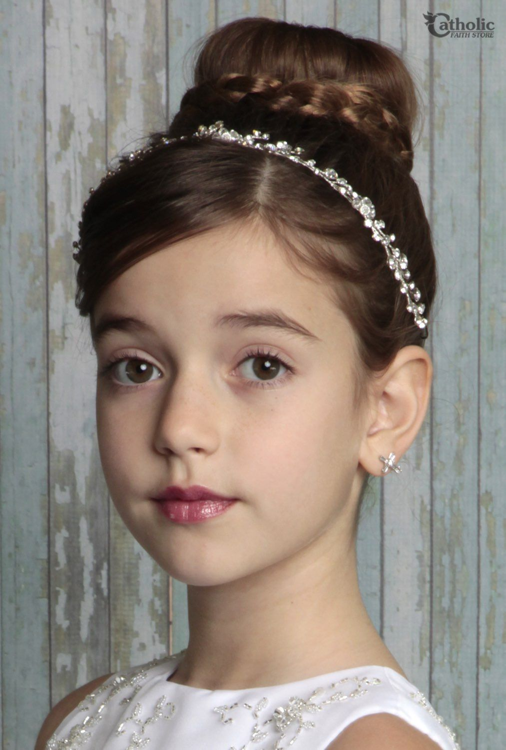 First Communion Vine Hair Wrap From Catholic Faith Store 12 Clear First Communion Hairstyles Communion Hairstyles Communion Hair Pieces