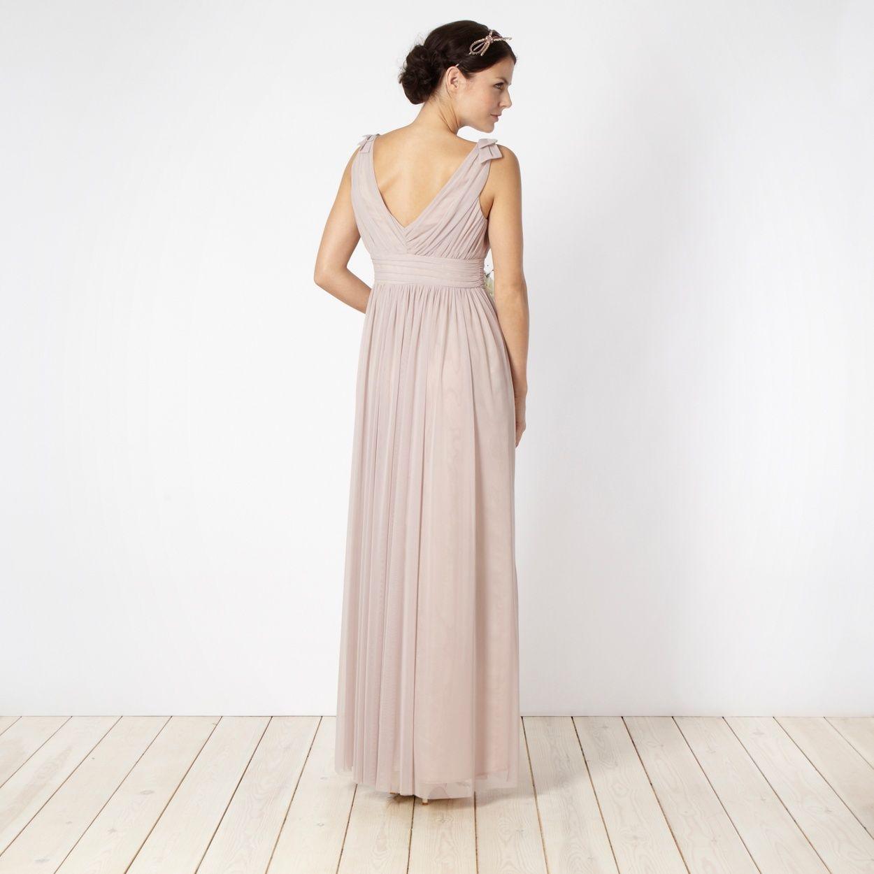 Debut Rose ruched bust maxi dress- at Debenhams.com, back | Barn ...