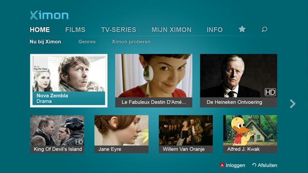 Ximon vod app, voor Samsung smart tv iptv smarttv ons