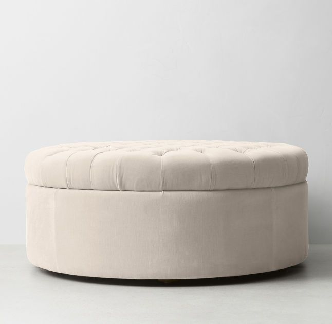 Large Pouf Ottoman Amazing Tufted Large Round Velvet Storage Ottoman  Bedroom  Pinterest Design Decoration