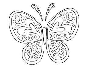 Dibujo De Mandala Mariposa Para Colorear Bordado Mexicano
