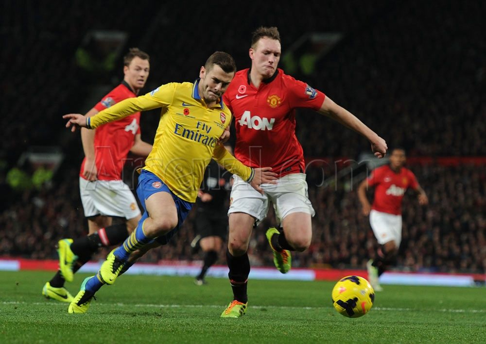 Wilshere vs Manchester United 2013-2014.