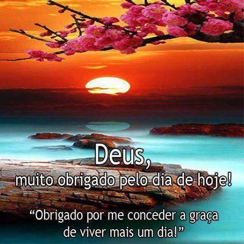 Espiritualidade Agradecimento Frase Deus Muito Obrigado Pelo Dia De