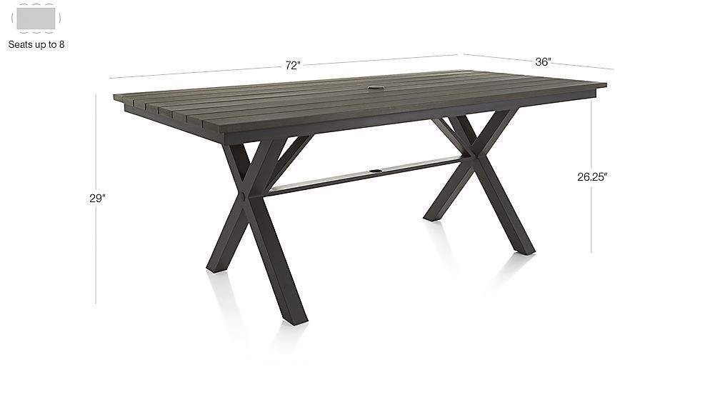 Union Trestle Dining Table In Union Dining Crate And Barrel - 72 trestle dining table