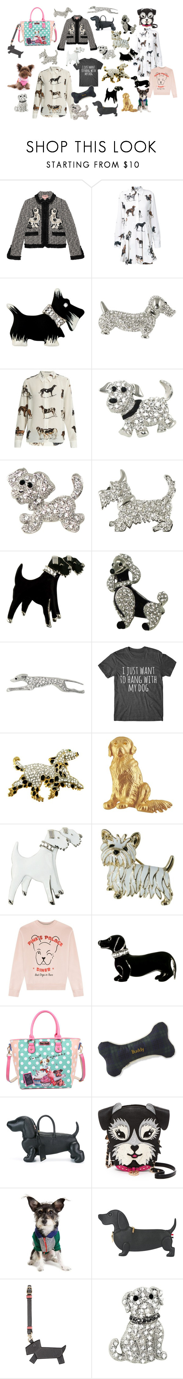 """""""Crazy Dog Lady"""" by eternal-collection on Polyvore featuring Gucci, STELLA McCARTNEY, Être Cécile, Nicole Lee, L.L.Bean, Thom Browne, Betsey Johnson, Valextra and Zack & Zoey"""