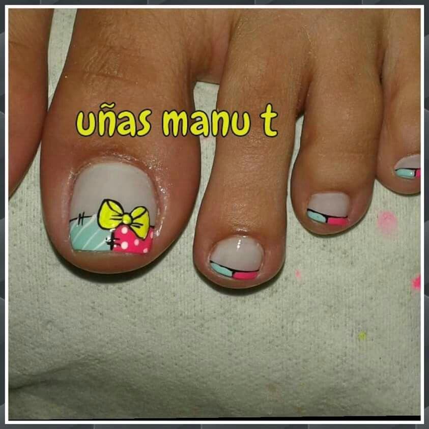 Uñas pies | uñas | Pinterest