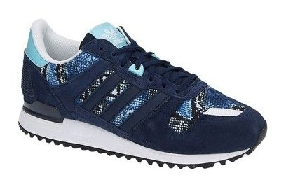 Adidas ZX 700 W blauwe lage sneakers | Adidas zx, Sneaker