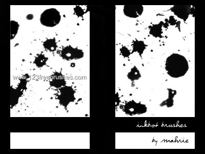 Ink Blots 5 - Download  Photoshop brush http://www.123freebrushes.com/ink-blots-5/ , Published in #GrungeSplatter. More Free Grunge & Splatter Brushes, http://www.123freebrushes.com/free-brushes/grunge-splatter/ | #123freebrushes