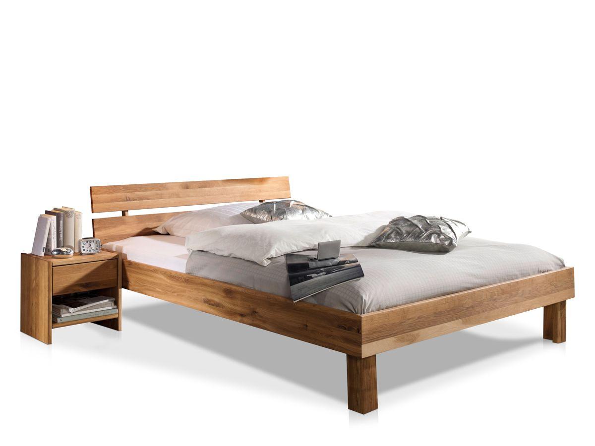 CARIA Doppelbett / Massivholzbett Kernbuche 90 x 200 cm