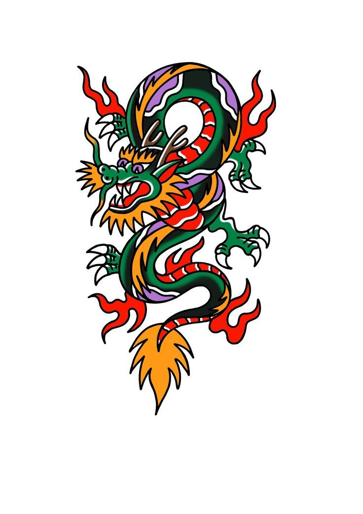 Photo of Tatouage de dragon traditionnel américain – Aujourd'hui Pin