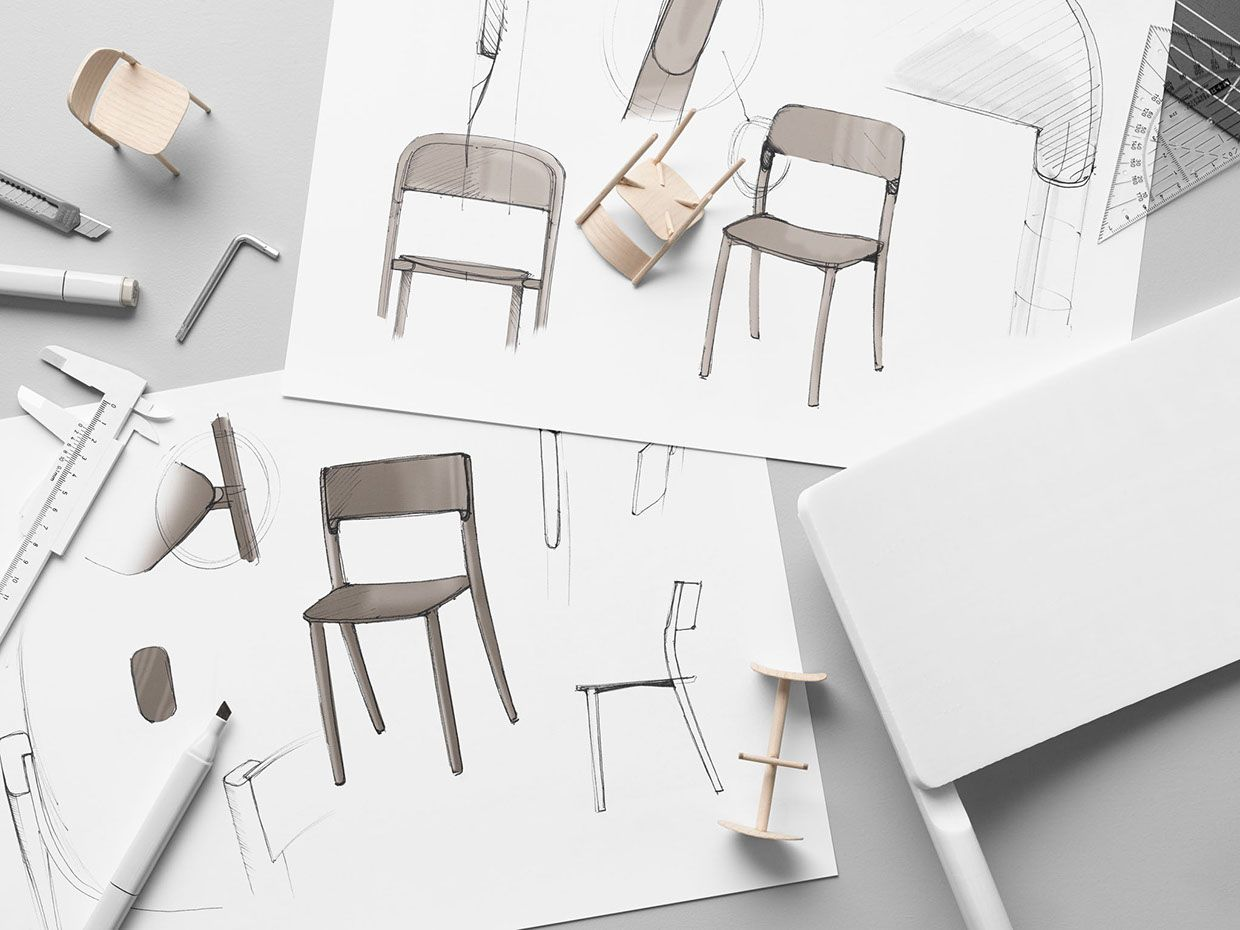 chair design love cheap yellow covers ikea janinge on behance sketches pinterest