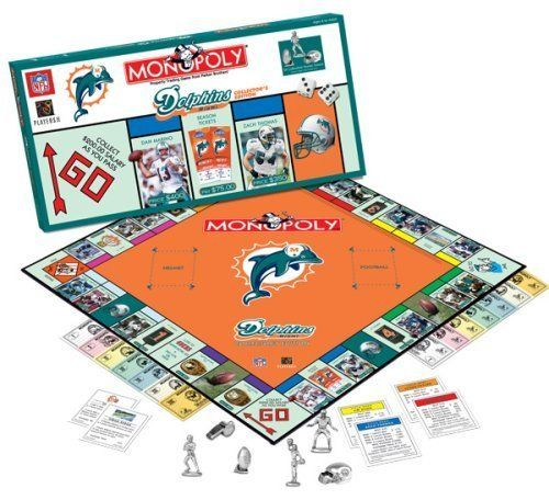 Miami Dolphins Monopoly Game: Toys & Games
